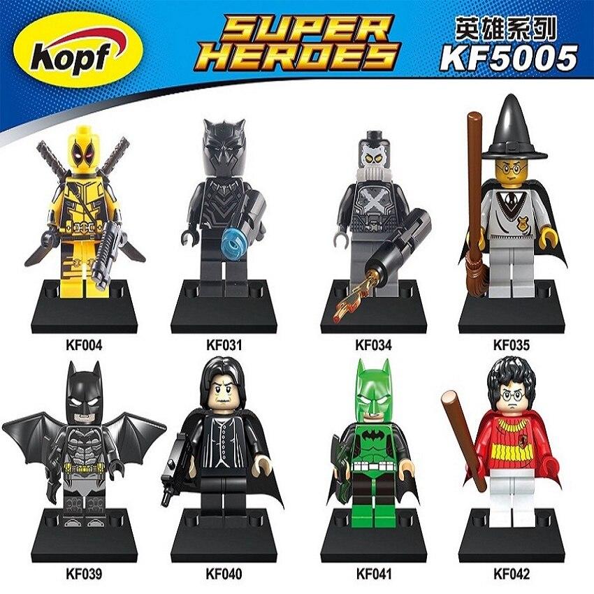 Super Heroes Deadpool Batman Black Panther Ant-Man Harry Potter Scarecrow Bricks Model Building Blocks Children Gift Toys KF5005 liss david black panther the man without fear volume 1