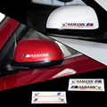 2 X Reflective Car Rearview Mirror Sticker and Decal ///M Accesspries for Bmw Hamann