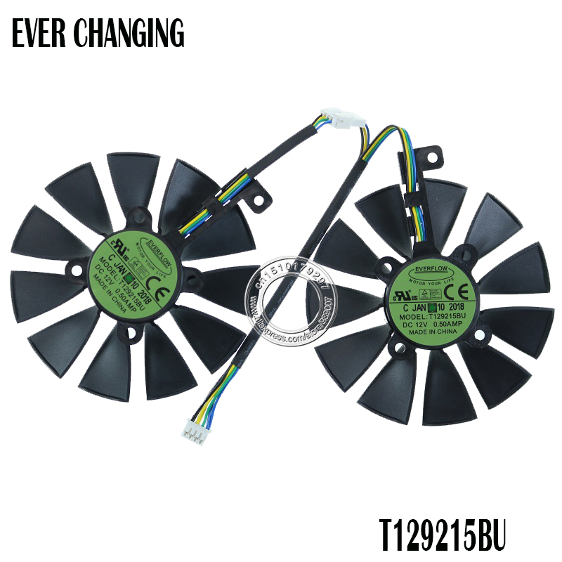 New 87MM T129215BU T129215SU Graphics Card Fan for ASUS ROG STRIX DUAL GTX 1070 GTX 1060 / RX 470/570/580 RX570 RX580 RTX2060 image