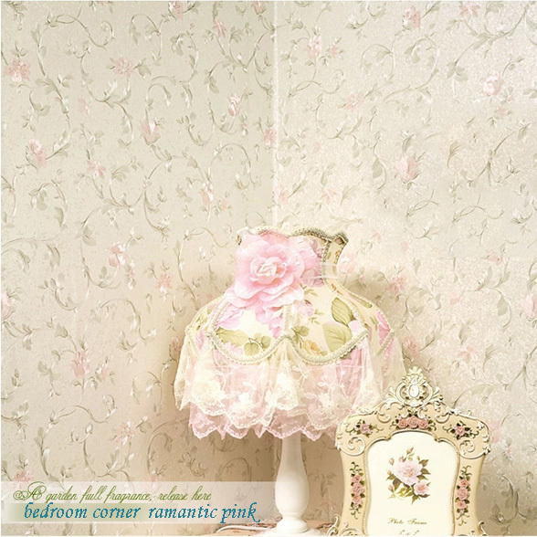 embossed pvc country designs warming flower wallpapers for girls room wall art decor
