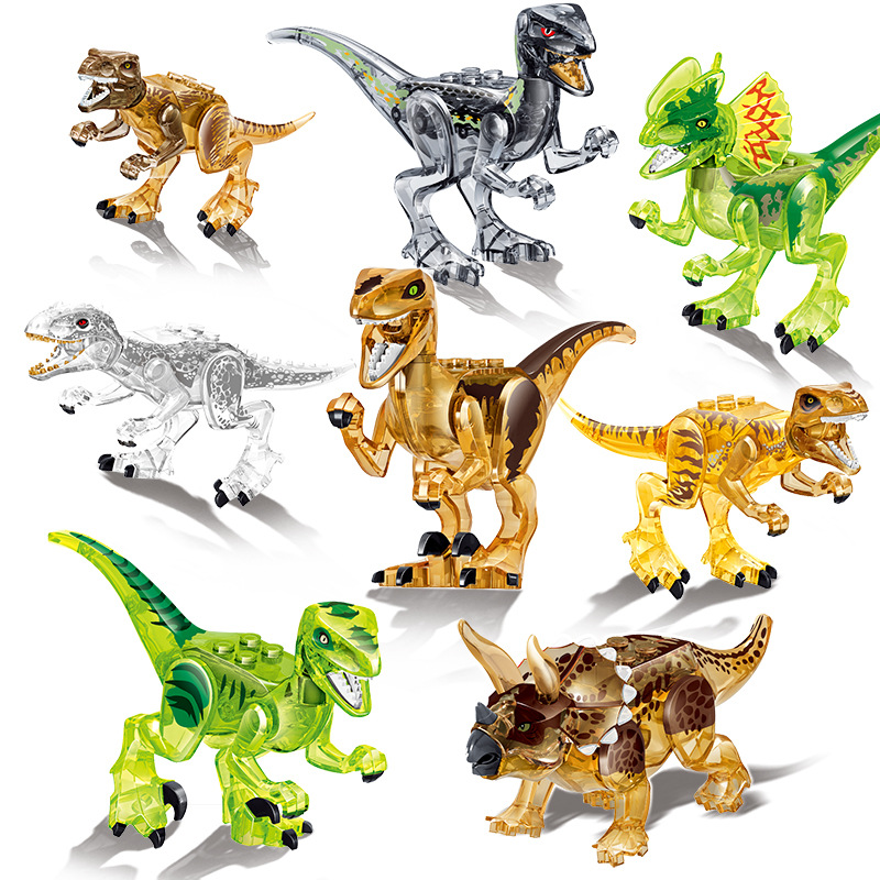 Sermoido Jurassic Sale Dinosaurs Park Pterosauria Triceratops Indomirus T rex World Figures Bricks Toys Building Blocks in Blocks from Toys Hobbies