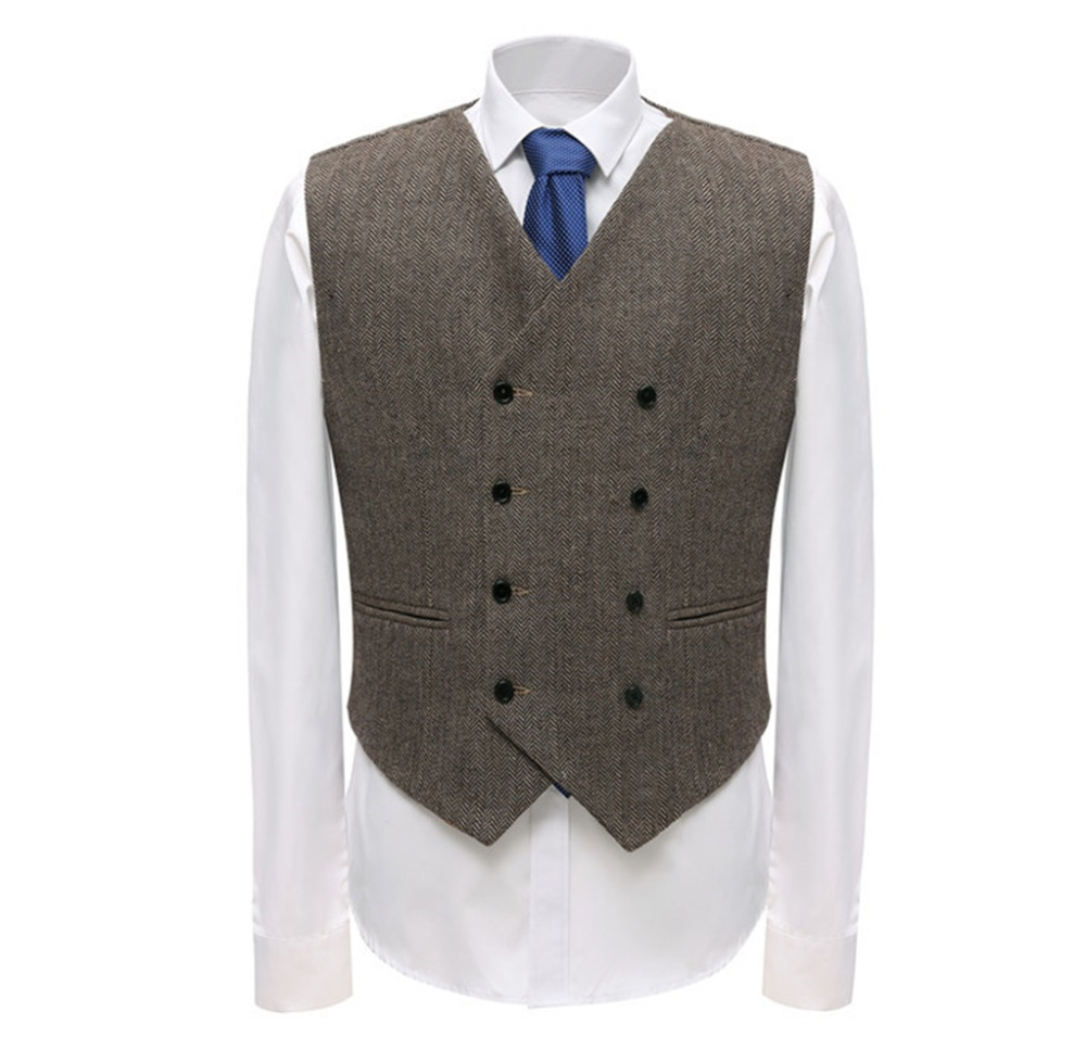 Independent Fashion Double Breasted Woolen Suit Vest Men 2018 Spring New Sleeveless Wool Vest Waistcoat Mens Slim Fit Wedding Business Vests At Any Cost Men's Clothing