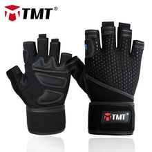 TMT Sport Fitness Gym Gloves Men Women Weight Lifting Body Building Powerlifting Barbell Dumbbell Training Exercise Crossfit
