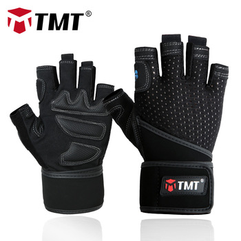 TMT Sport Fitness Gym Gloves Men Women Weight Lifting Body Building Powerlifting Barbell Dumbbell Training Exercise Crossfit fitness weight lifting belt gym powerlifting crossfit barbell lifting dip belt weightlifting equipment for training lifting belt