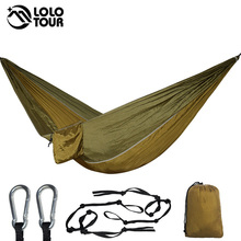 Outdoor Hammock With 3 Meters Tree Ropes Nylon Folding Ultralight Portable Hammocks For Travel Campus Leisure 270*140CM