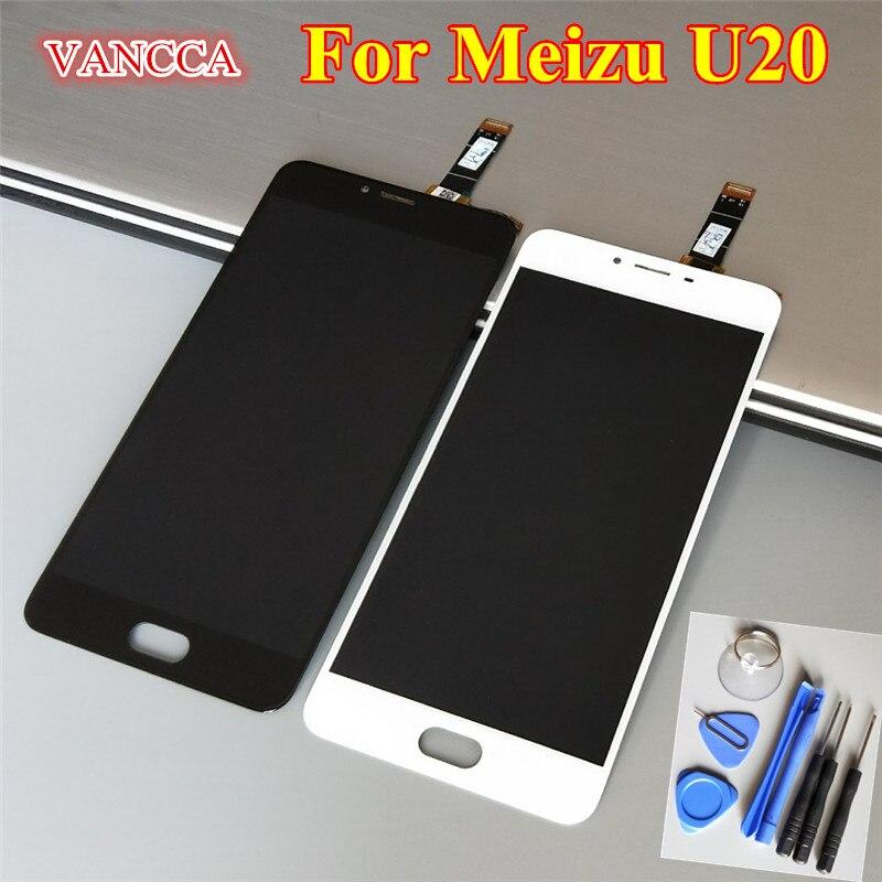 imágenes para Alta Calidad Nueva Pantalla LCD + asamblea de Pantalla Táctil Digitalizador para Meizu U20 Teléfono 5.5 pulgadas 1920*1080 Negro/Blanco Color