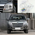 Great Wall Haval H5 GKC 2010 2011 2012 Excelente Angel Eyes kit de Multi-Cor Ultrabright 7 Cores RGB LED Angel Eyes o Halo Anel