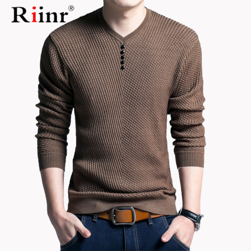 M-3XL Winter Henley Neck Sweater Men Wool Pullover Christmas Sweater Mens Knitted Sweaters Pull Homme Jersey Hombre 2019