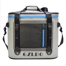 Большой 55cans ТПУ переносной пикник мешок 100% водонепроницаемый изоляции Термальность Мягкие боковые сумка обед Еда сумка-холодильник Рыбалка сумка