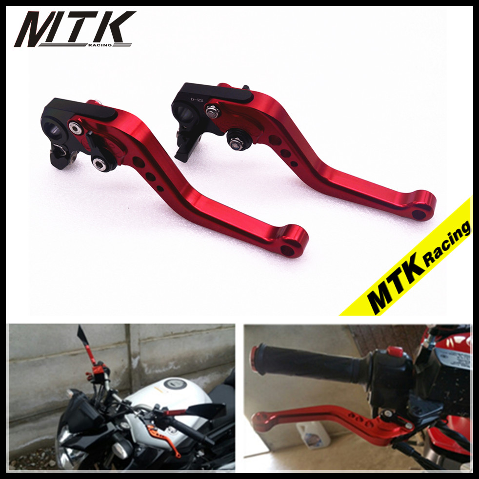 MTKRACING For Honda CB599/600/919 CBR 900RR CBR 600 F2,F3,F4,F4i VTX1300 NC700 CNC Brake Clutch Levers Set Short Motocross