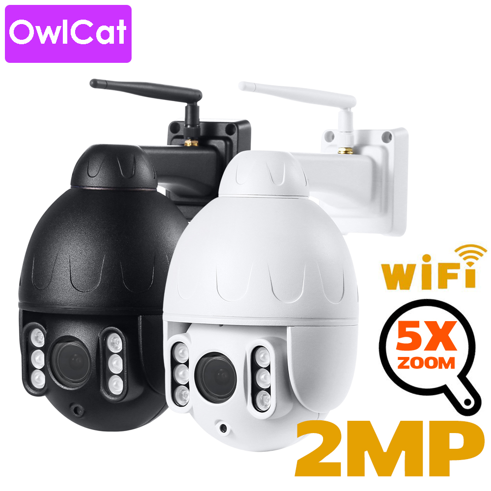 OwlCat Wi-Fi IP Camera Bullet PTZ Outdoor Waterproof IP66 CCTV Auto Cruise Movement Two Way Audio SD Card Motion Phone APP Onvif