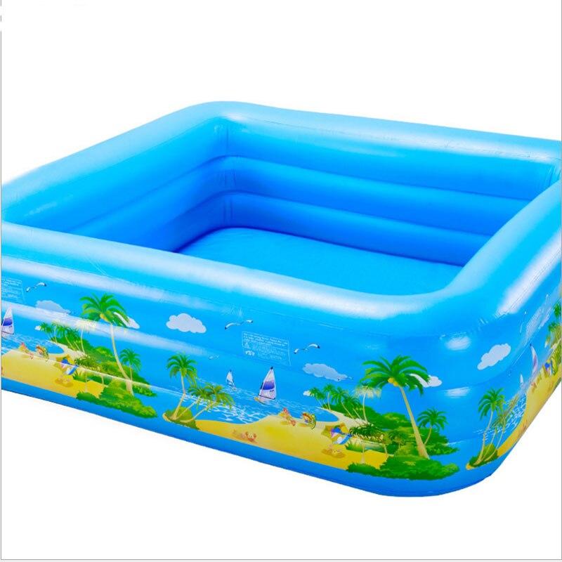 все цены на Children inflatable swimming pool family PVC super large ocean pool thickening household medium sized adult pool