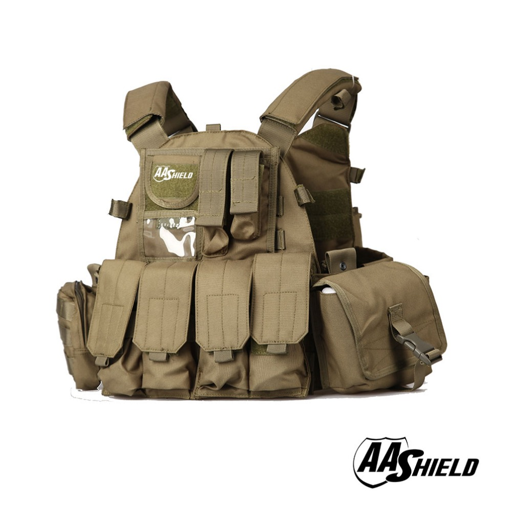 Aa Shield Molle Plates Carrier 6094 Style Military Tactical Equipment Vest /od Security & Protection