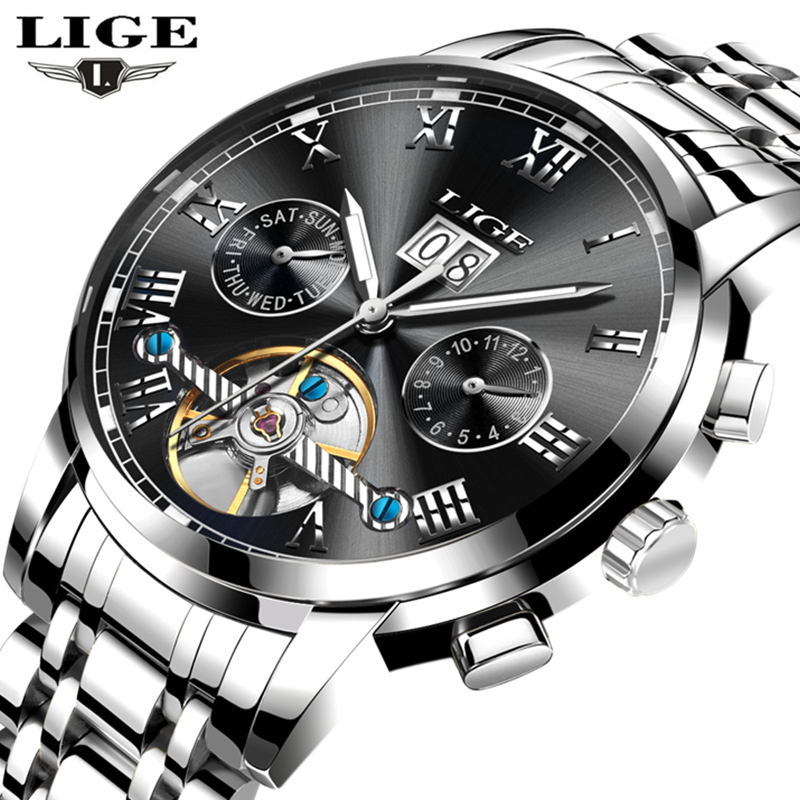 Relogio Masculino LIGE Automatic Watch Men Business Clock Mens Watches Top Brand Luxury Fashion Casual Waterproof Sport Watches reloj hombre top brand luxury simple fashion casual business watches men date waterproof automatic mens watch relogio masculino