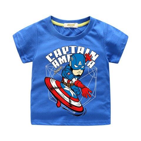2019 meninos camisetas de verao criancas de super herois da marvel avengers homem de ferro