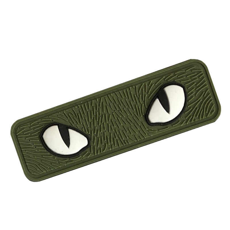 חתול עיניים מורל תיקון Combat זוהר בחושך תג אפליקצית תג חתול עיניים PVC תיקון עבור טקטי קסדת תיק מעיל