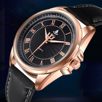 Top Brand Luxury Famous Male Clock Quartz Watch Rose Gold Wrist Watch Men 2016 Golden Wristwatch