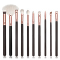 Women Fashion Beauty professional Brushes 10Pcs/set Cosmetic Black Brush Wood Handle Makeup Brush Sets Kits Tool Kit Set