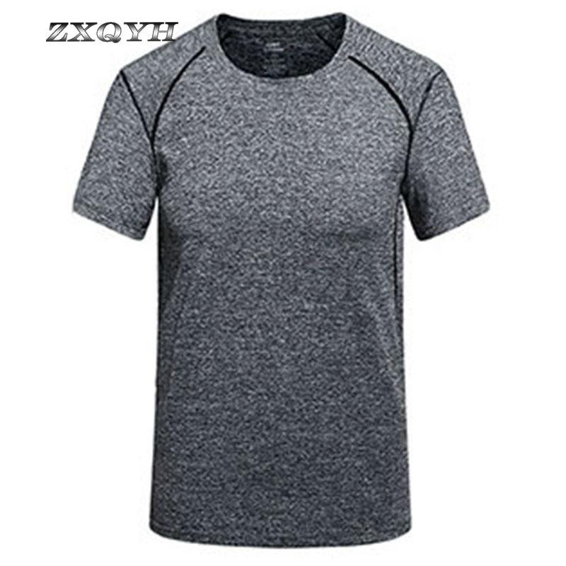 Wander-t-shirt Zxqyh Quick Dry T-shirt Kurzarm Sommer Sport T-shirts Neue Männer Fitness Laufende T-shirts Outdoor Camping Wandern Shirts Zur Verbesserung Der Durchblutung Camping & Wandern
