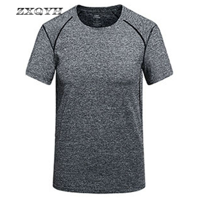Wanderkleidung Sport & Unterhaltung Zxqyh Quick Dry T-shirt Kurzarm Sommer Sport T-shirts Neue Männer Fitness Laufende T-shirts Outdoor Camping Wandern Shirts Zur Verbesserung Der Durchblutung