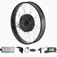 CE Approved ,26 x 4.0 Fat bike kit 48V 1000W electric fat bike conversion kit with LCD display