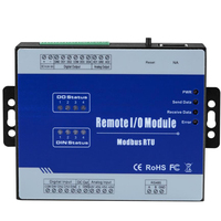 Modbus RTU Remote IO Module Supports High Speed Pulse Counter 1 Isolated RS485 Can used as Modbus Slave M100(Sink Output)