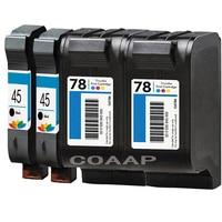 4x Refillable HP45 51645A For HP78 C6578D Ink Cartridges For HP Deskjet 710C 820Cse 820Cxi 920C