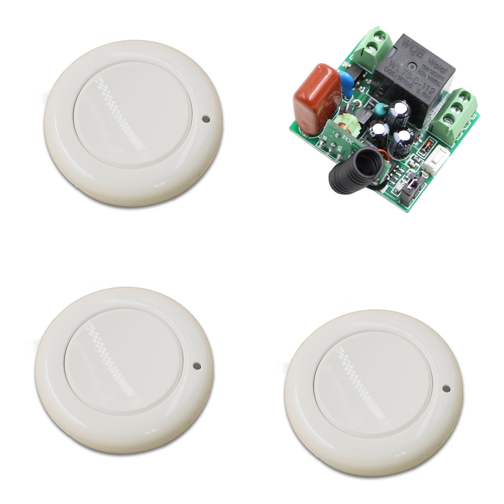 Wireless Remote Switch Wireless Light Switch RF Remote Controller 1CH Wireless Relay Mini Receiver Transmitter 315Mhz / 433Mhz 315 433mhz 12v 2ch remote control light on off switch 3transmitter 1receiver momentary toggle latched with relay indicator