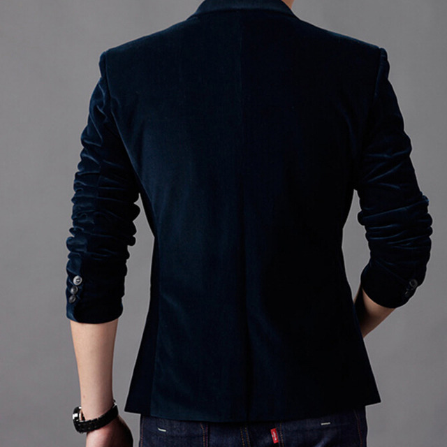 New Arrival Luxury Fashion Brand High Quality Cotton Slim Fit Men Blazer