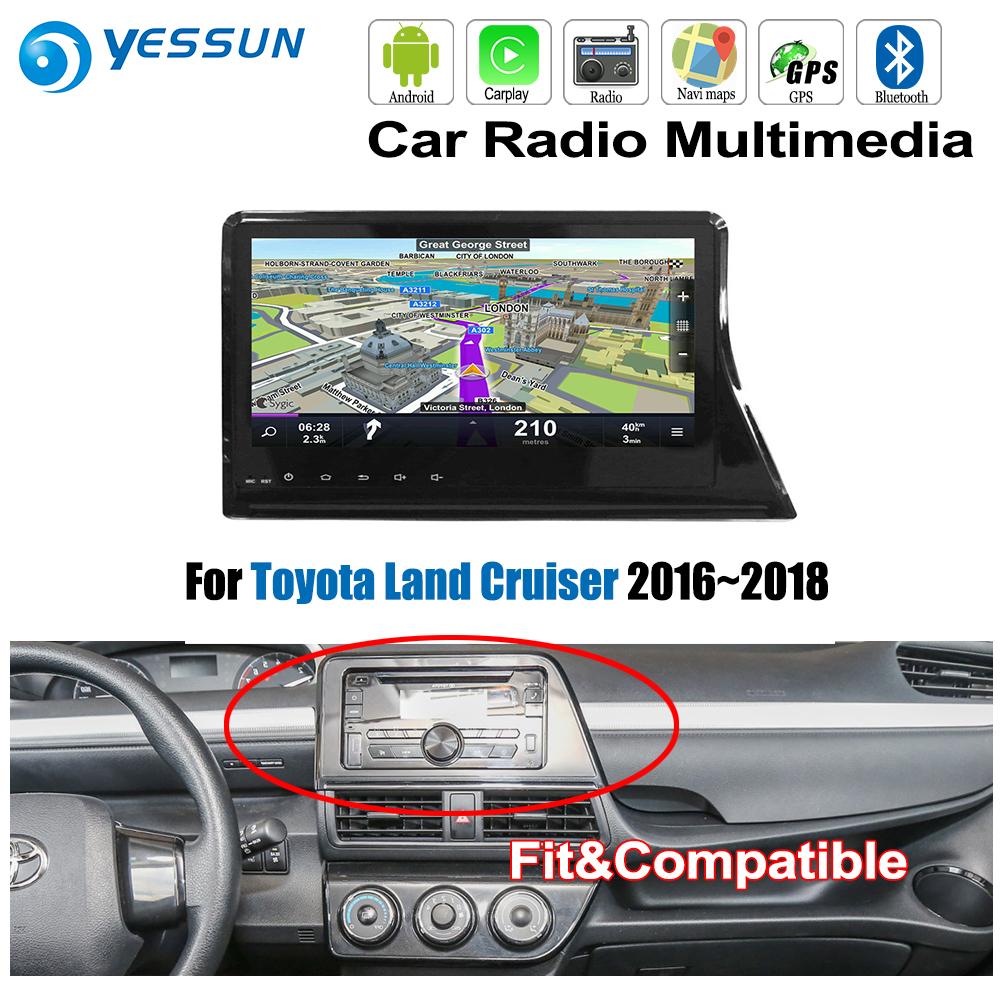 YESSUN For Toyota Sienta 2015~2018 Car Android Carplay GPS Navi maps Navigation Player Radio Stereo BT HD Screen no CD DVD yessun for mazda cx 5 2017 2018 android car navigation gps hd touch screen audio video radio stereo multimedia player no cd dvd