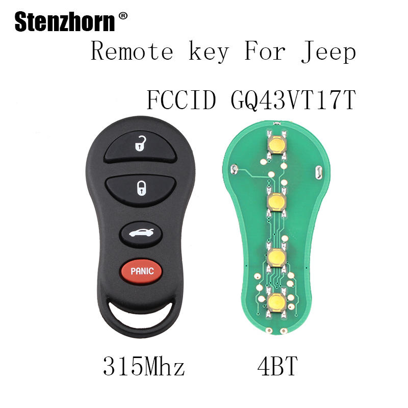Stenzhorn 4Buttons 315Mhz For font b Jeep b font font b Liberty b font 2002 2003