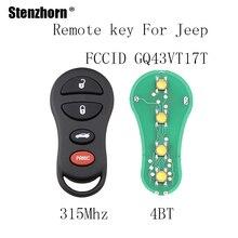 Stenzhorn 4Buttons 315Mhz For Jeep Liberty 2002 2003 2004 For CHRYSLER DODGE GQ43VT17T Original keys