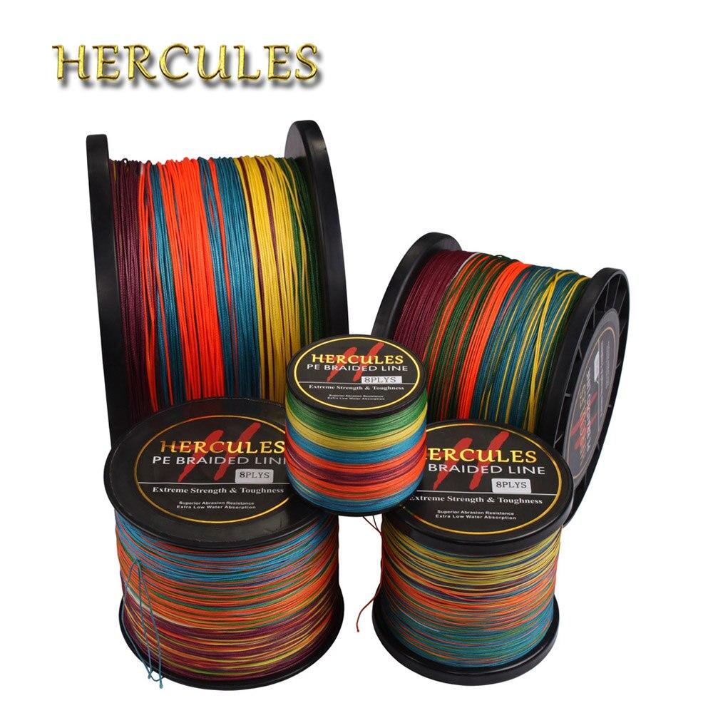 Hercules 200LB PE Braided <font><b>Fishing</b></font> <font><b>Line</b></font> Saltwater Carp <font><b>Fishing</b></font> Super Strong <font><b>8</b></font> <font><b>Strands</b></font> Multicolor 100M 300M 500M 1000M 1500M 2000M