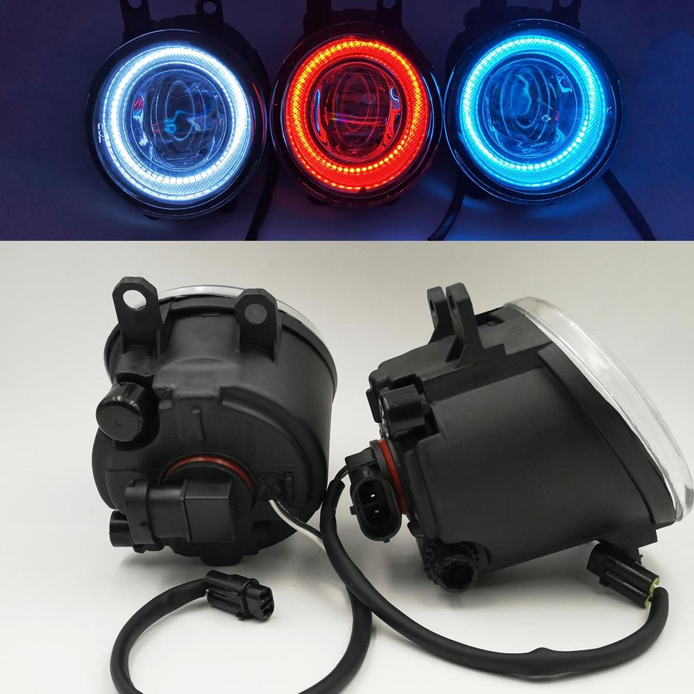 CSCSNL 1Set pair 12V Car LED Angel Eyes DRL Fog Light Lamp DRL Daytime Running Light