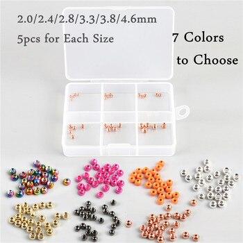 최대 캐치 30 개/몫 2.0-4.6mm 텅스텐 플라이 tying 요정 공 구슬 플라이 타이 재료 상자