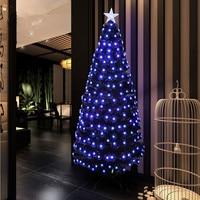1.8 m / 180cm full black blue pentacle Colorful LED Christmas tree lighted Christmas Fiber Tree Garden Hotel