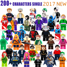 pogo dc marvel super heroes joker batman captain america spiderman harley quinn building block figures toys children gift