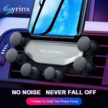 Syrinx 2019 New Arrival Car Phone Holder Air Vent Mount Stand for iPhone XS X XR Samsung Smartphone Bracket Gravity Cell Support цены