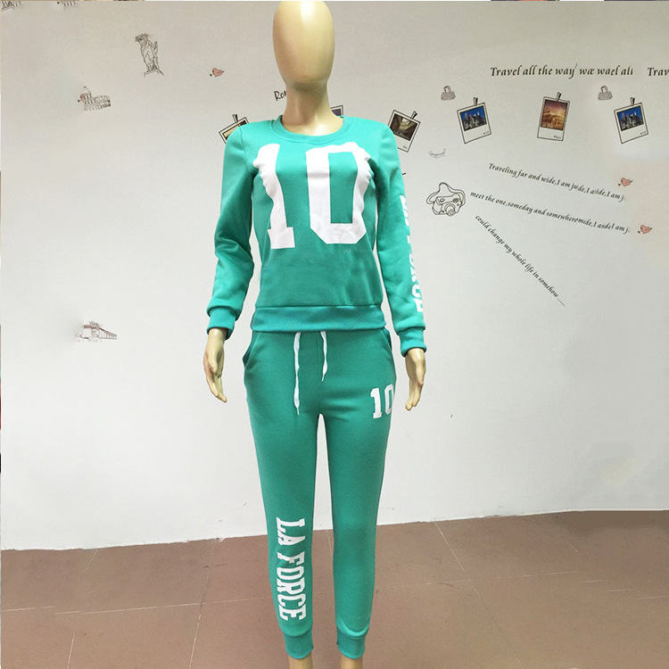 2 pezzi 2017 nuovo cosmama marca donna primavera autunno abbigliamento tuta set pullover felpe e felpe numero 10 e pantaloni