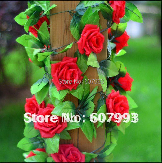 Red pink purple champagne artificial silk rose flowers ivy garland red pink purple champagne artificial silk rose flowers ivy garland fabric vine foliage home mightylinksfo