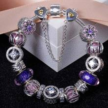 925 Sterling Silver Bracelet Openwork Allure Nature Radiance Christmas Bracelet Bangle For Women Wedding Gift Jewelry HKC9004