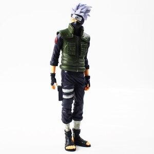 Image 2 - 28cm Anime Naruto Shippuden Grandista Hatake Kakashi Banpresto Shinobi Relations PVC Action Figure Collection Model Toy