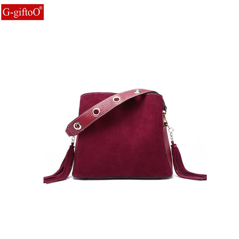 Women Real Split Suede Leather Shoulder Bag Female Leisure Nubuck Casual  Handbag Hobo Messenger Top- 6b0db1011d7d6