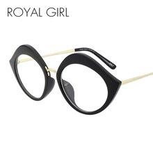 b7769e0675 ROYAL GIRL Vintage Cat Eye Glasses Frame Women Metal Frame Clear Lens  Eyeglasses High Quality Unisex
