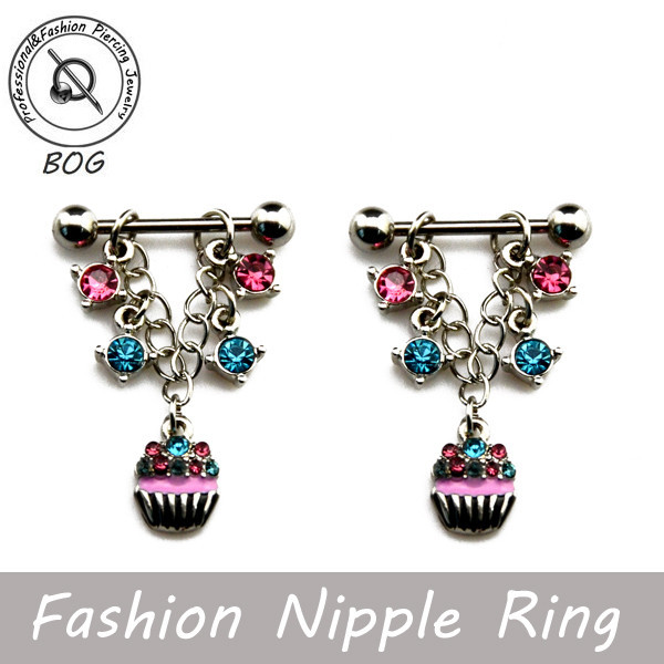HTB1TrKZGVXXXXa_XFXXq6xXFXXXj A Pair of Stylish Nipple Rings With Dangling Flower Baskets