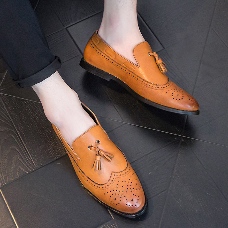 Men Shoes Genuine Leather Italian Designer Fashion Dress Shoes Classic Formal Brogue Shoes for Male Footwear Wedding Business men shoes genuine leather italian designer fashion dress shoes classic formal brogue shoes for male footwear wedding business
