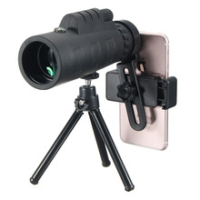 Best price NEW 12X Telescope Monocular Lens Telephoto Lens Camping Outdoor Phone Holder Clip Universal for iPhone Android Mobile Phones