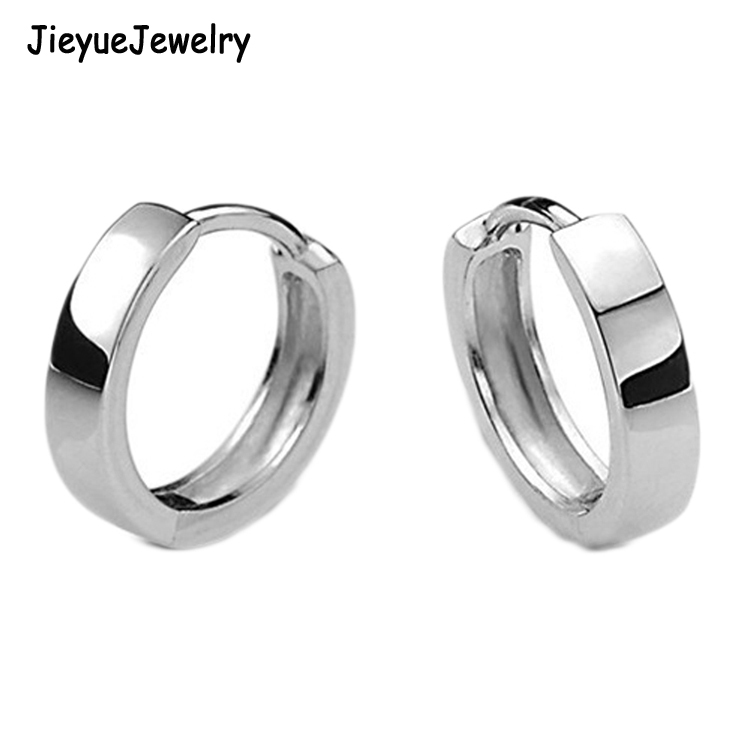 2017 Fashion Korean Style earrings Silver Plated Glossy Unisex Earrings Charming Jewelery Accessories
