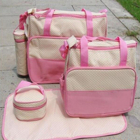 5PCS Mommy Bag Of Multiple Functions Mother Package Size The Size 5 Sets