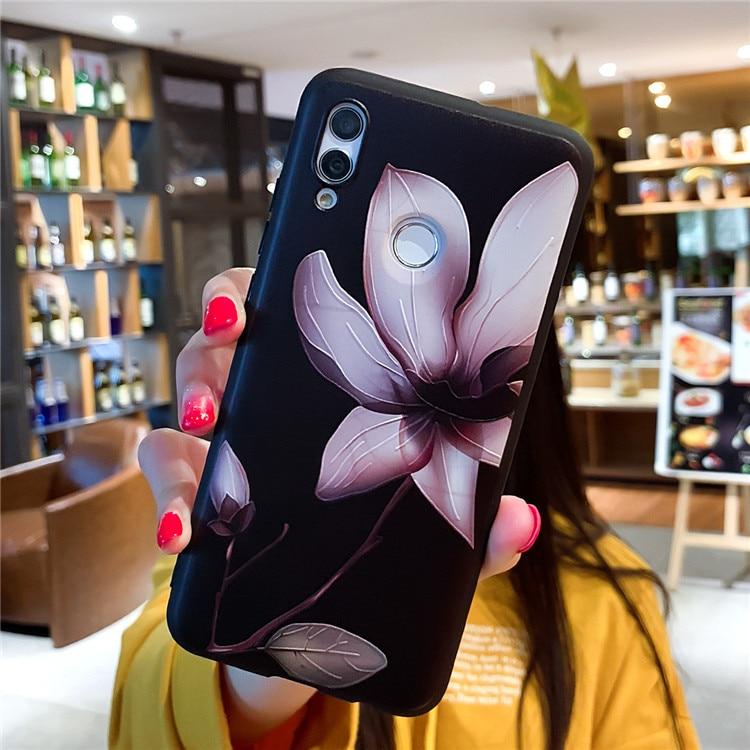 Xiaomi Redmi Note 7 Pro 5 5A 6 6A 7A S2 GO K20 Pro 3D Relief Floral Phone Case Xiaomi Mi A2 Lite Girly Cover